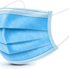 DISPOSABLE 3-PLY FACE MASK WITH ELASTIC EAR LOOP 50PC